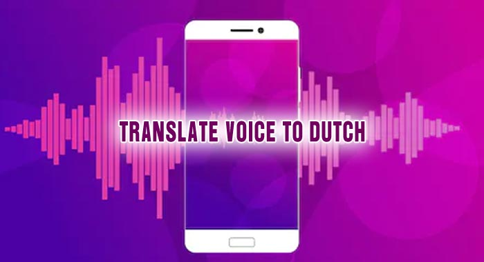 Easy and Fast Process to Translate Voice to Dutch