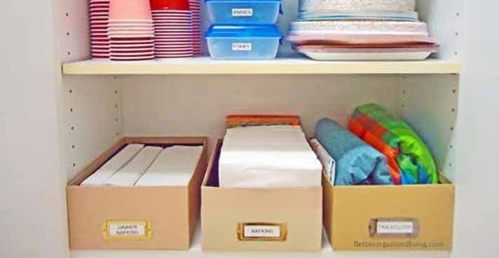 How to Organize A Box of Cleaning Household