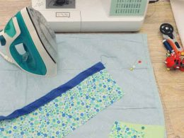 standard way to iron seams when quilting