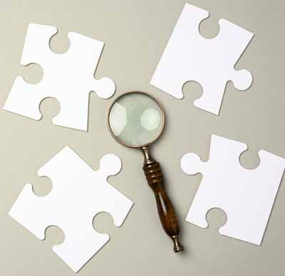 Puzzles with identifiable shapes